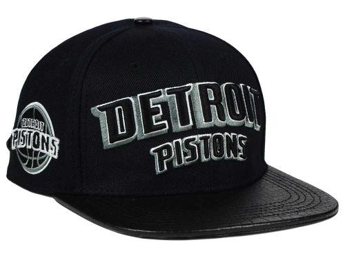 Detroit Pistons Pro Standard NBA Real Leather Strapback Hat Hats