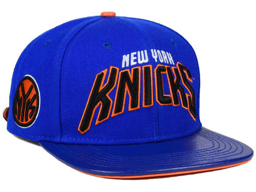 New York Knicks Pro Standard NBA Real Leather Strapback Hat Hats