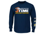 VF Licensed Sports Group NFL Super Bowl 50 3-Time Champ Long Sleeve T-Shirt T-Shirts