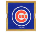 Chicago Cubs 4-pack Square Coaster w/ Caddy Kitchen & Bar