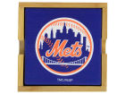 New York Mets 4-pack Square Coaster w/ Caddy Kitchen & Bar