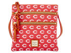Cincinnati Reds Dooney & Bourke Dooney & Bourke Triple Zip Crossbody Bag Luggage, Backpacks & Bags