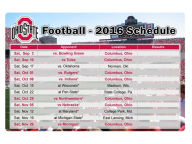 2016 Football Schedule Magnet Gameday & Tailgate