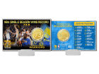 Golden State Warriors Highland Mint 4x6 73 Win Record Bronze Coin Card Collectibles